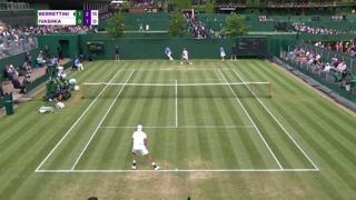 Wimbledon, i colpi migliori di Matteo Berrettini nella vittoria contro Ivashka
