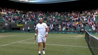 Berrettini in semifinale a Wimbledon: il match point con Aliassime