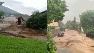 Alluvioni in Alto Adige: l'acqua travolge tutto nell'altopiano dello Sciliar a Bolzano