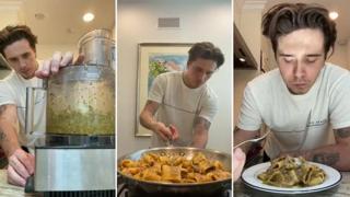 Il figlio di Beckham cucina la pasta al pesto, gli italiani insorgono sul web
