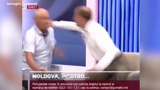 Moldavia, rissa in diretta tv durante un dibattito politico