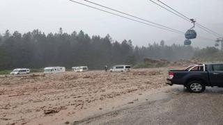 Forti temporali con alluvioni in Alto Adige: le immagini dall'Altopiano dello Sciliar