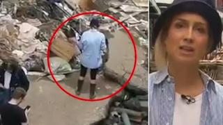 La giornalista tedesca si cosparge di fango prima della diretta nelle zone alluvionate: sospesa dalla rete
