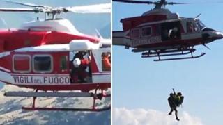 Escursionista in difficoltà sul Pollino, il video del salvataggio con l'elicottero