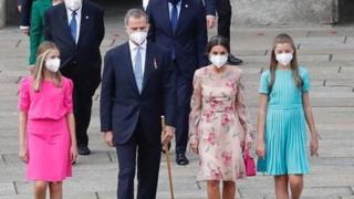 I reali di Spagna a Santiago de Compostela per la festa del patrono nazionale