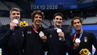 Tokyo2020, i 4 ragazzi d'argento nel nuoto: «Abbiamo scritto un risultato storico per il nostro Paese»