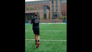 La precisione dei tiri di Tom Brady, ma il video dell'allenamento è vero?