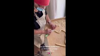 Chiara Ferragni e Fedez alle prese con i cavatelli