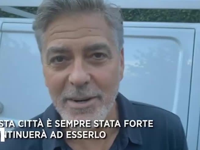 George Clooney a Laglio dopo l'alluvione: «Peggio di quanto pensassi»