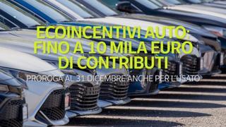 Ecoincentivi auto: fino a 10 mila euro di contributi per l'acquisto di veicoli a ridotte emissioni