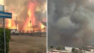 Pescara colpita da un vasto incendio: le fiamme tra le case, i bagnanti in fuga dalla spiaggia