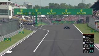 Gran Premio di Ungheria, la surreale ripartenza dopo l'incidente: Hamilton da solo al via