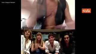 Iggy Pop e i Maneskin insieme in un video su Instagram