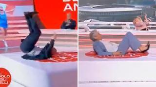 Tokyo2020, lo show di Simeoni e Chechi: capriole e prove di salto in alto in diretta tv