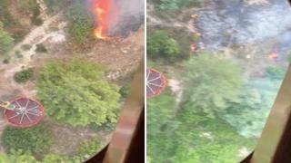 Turchia devastata dali incendi: il video dall'elicottero dei forestali