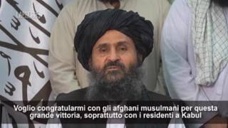 Afghanistan, il leader dei talebani Baradar: «Vittoria grazie all'aiuto di Dio, non ci renda arroganti»