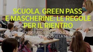 Scuola, green pass e mascherine: le regole per il rientro