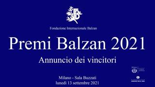L'annuncio dei premi Balzan 2021