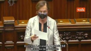 Rave party di Viterbo: bagarre in Aula, Lamorgese contestata