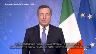Forum sul clima, Draghi: «Finora siamo venuti meno agli accordi di Parigi, possibili conseguenze catastrofiche»