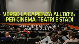 Verso la capienza all'80% per cinema, teatri e stadi