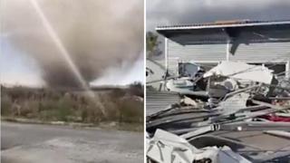 Carpi, tromba d'aria si abbatte sull'aeroporto: aerei ultraleggeri distrutti