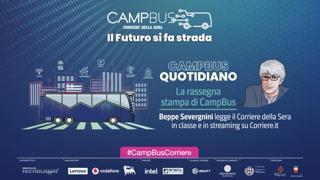 CampBus Quotidiano, il Corriere al liceo Manzoni di Milano: la rassegna stampa di Severgnini
