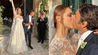 Miriam Leone sposa a Scicli il suo compagno Paolo Carullo