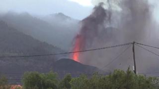 Canarie, prosegue l'eruzione del vulcano Cumbre Vieja