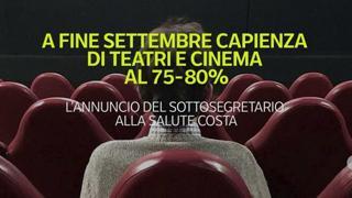 A fine settembre capienza di teatri e cinema al 75-80%