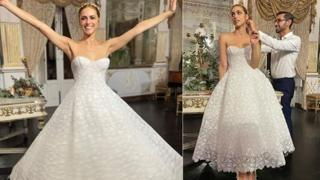 Miriam Leone, l'abito da sposa indossato per il ricevimento