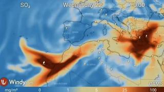 Eruzione alle Canarie: la nuvola di gas tossici verso il Mediterraneo