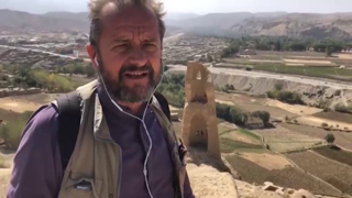 Dentro la cittadella di Bamyan, in Afghanistan