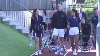 Kate Middleton gioca a tennis con la campionessa degli US Open
