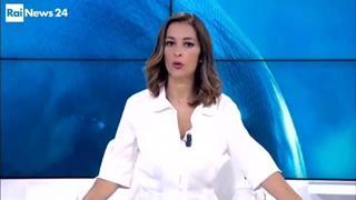Il momento di panico dell'inviato di Rai News 24