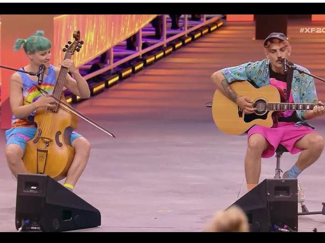 X Factor, i Garbino e la cover di «T'appartengo» di Ambra Angiolini