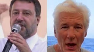 Salvini: «Richard Gere testimonierà contro di me nel processo Open Arms a Palermo»