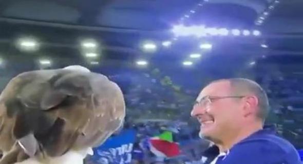 La festa della Lazio dopo il derby vinto