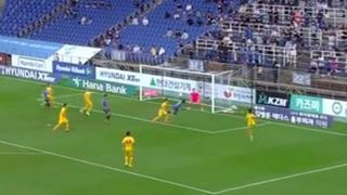 Corea, si lancia in volo sul pallone: il gol con  colpo di testa in rotazione