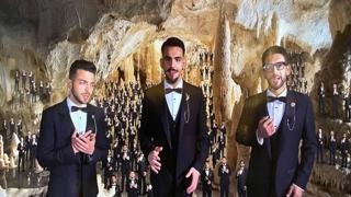 Il Volo canta tra le stalattiti e le stalagmiti delle Grotte di Frasassi