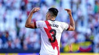 Il record di Falcao: tre gol in tre partite con la maglia del Rayo Vallecano