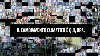A Milano il climate wall per la salvaguardia del Pianeta: «Noi ci mettiamo la faccia»