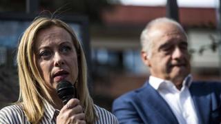 Roma, la conferenza stampa di Meloni e Michetti sui risultati del voto