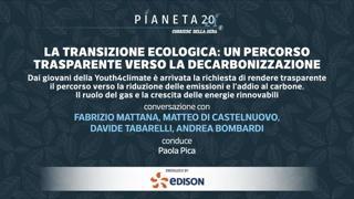 «Pianeta2021» - La Transizione ecologica: un percorso trasparente verso la decarbonizzazione