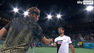Indian Wells, Fognini furioso dopo l'eliminazione: la stretta di mano polemica con Tsitsipas
