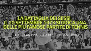 La battaglia dei sessi, il 20 settembre 1973 una delle più famose partite di tennis: la sfida tra un uomo e una donna