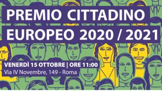 Premio Cittadino Europeo 2020/2021