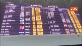 Addio Alitalia, sui tabelloni di Fiumicino compare la scritta Ita