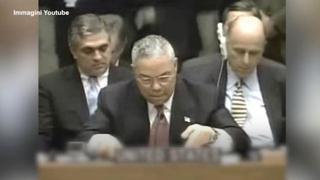 Colin Powell, quando all'Onu fece il discorso sulle armi di distruzione di massa dell'Iraq