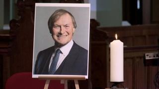 Cerimonia in chiesa per ricordare il deputato britannico Sir David Amess